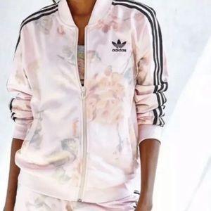 Adidas Pink Rose Track Jacket Floral Large A24785